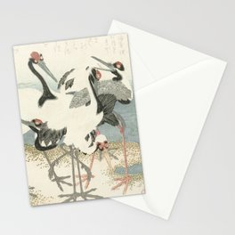 Cranes on the Water by Kubota Shunman, 1816 Stationery Cards