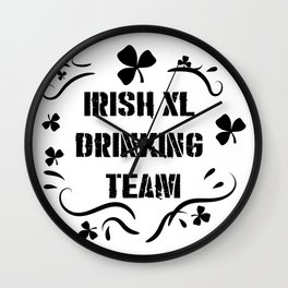 Irish Drinking Team Funny ST. Patrick Day Wall Clock