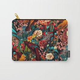 FLORAL AND BIRDS XVII Carry-All Pouch