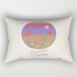 Monument Valley illustration Rectangular Pillow