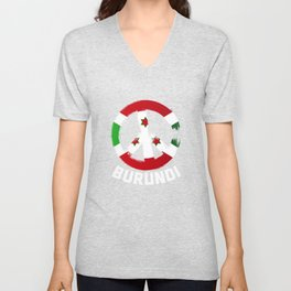Burundi Peace Sign T Shirt Unisex V-Neck