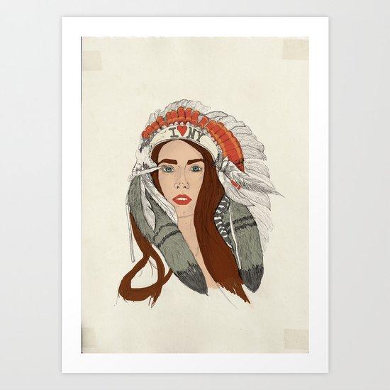 Indian NY Art Print