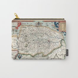 Map Of Norfolk 1574 Carry-All Pouch