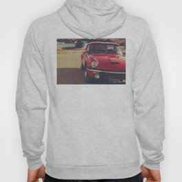Triumph spitfire, english car by the beach in italy, old car and a boat, for man cave decor Hoody