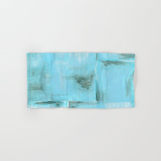 Frost, Abstract Art Painting Hand & Bath Towel