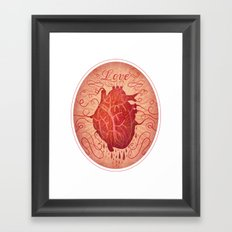 Anatomy of a Heart in Love Framed Art Print