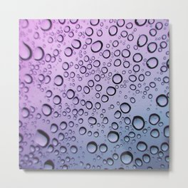 drops of blurple Metal Print