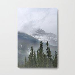 Misty Mountain Top Metal Print