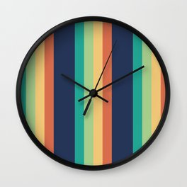 Happy Stripes Wall Clock
