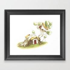 CabanArbre-Echelle Framed Art Print