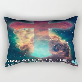 GREATER IS HE THAT LIVES IN ME Rectangular Pillow