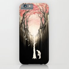Revenge of the nature II: growing red forest above the city. iPhone 6 Slim Case