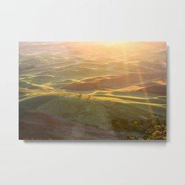 Palouse at Sunrise Metal Print