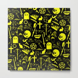 Buffy Symbology - Yellow Metal Print