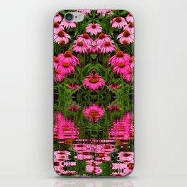 FUCHSIA-PINK ECHINACEA WATER GARDEN iPhone Skin