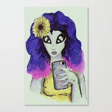 alien tumblr girl 2 Canvas Print