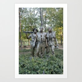 The Three Soldiers Sculpture Art Print
