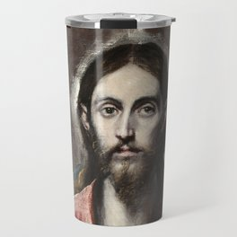 "El Greco (Domenikos Theotokopoulos) ""Christ Blessing ('The Saviour of the World')"" Travel Mug"