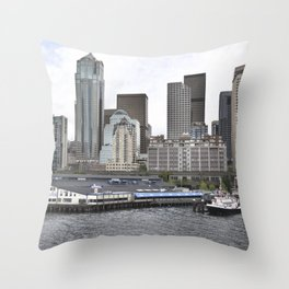 Central Waterfront Seattle Throw Pillow