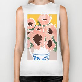 Sunshine On a Cloudy Day #painting #botanical Biker Tank