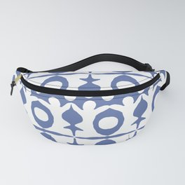 Blue Yoga Pattern Fanny Pack