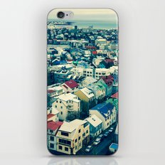 Retro Reykjavik - Iceland iPhone & iPod Skin