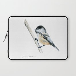 """Chicka-dee-dee-dee"" a painting of a Chickadee by Teresa Thompson Laptop Sleeve"