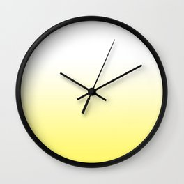yellow and white ombre Wall Clock