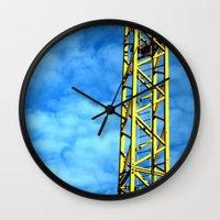 crane Wall Clocks featuring Crane by Annabies