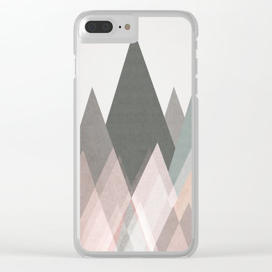 pastel plateau Clear iPhone Case