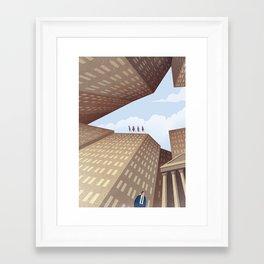 The Shark of Wall Street Framed Art Print