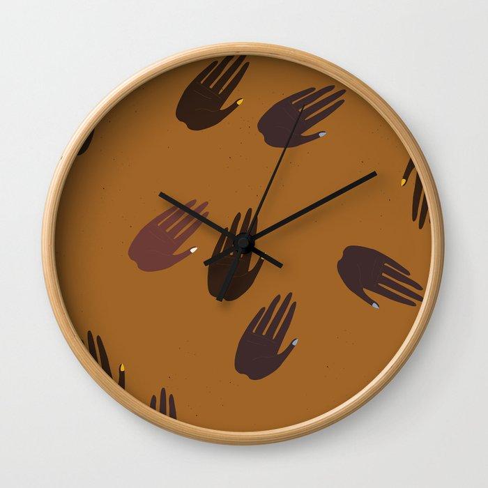 Melanin Hands Wall Clock
