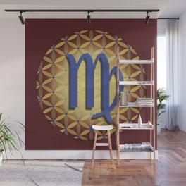 VIRGO Flower of Life Astrology Design Wall Mural