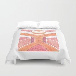 Vitruvian Man Da Vinchi - abstract minimalist people 1 Duvet Cover