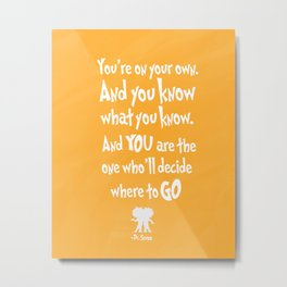 dr seuss: you're on your way Metal Print