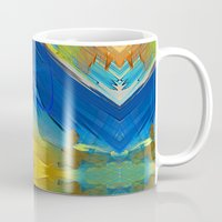 the strokes Mugs featuring Testing Strokes by Robin Curtiss