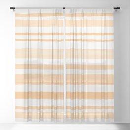 Orange Lines #orange Sheer Curtain