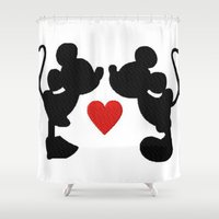 mickey Shower Curtains featuring MICKEY MOUSE by UDIN