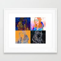 always sunny Framed Art Prints featuring shes always sunny by Elyse M Saunders