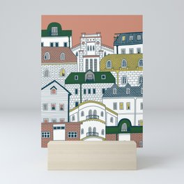 Architecture in Neighborhood | Burnt Sienna Mini Art Print