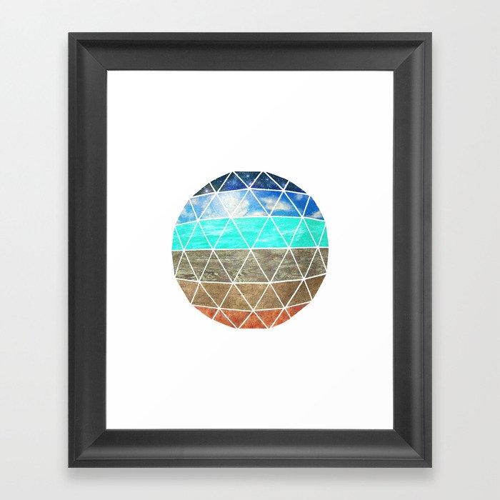 Elemental Geodesic  Framed Art Print