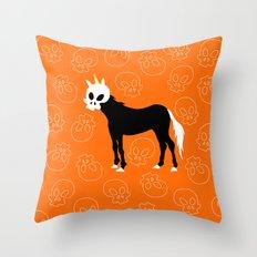 Skullhead Unicorn Throw Pillow