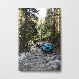 Line of Jeeps Metal Print