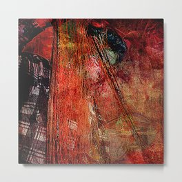 Sicilian Fisherman (This Artwork is a collaboration with the talented artist design  Ganech Joe) Metal Print