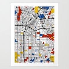 Los Angeles Mondrian Art Print