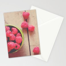 there is something in the red of a raspberry ...  Stationery Cards