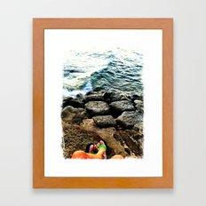 Green Slippers Framed Art Print