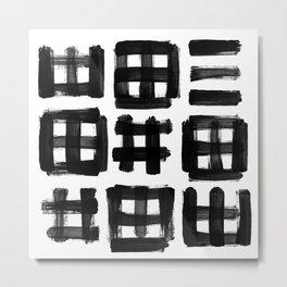 brush traces black Metal Print