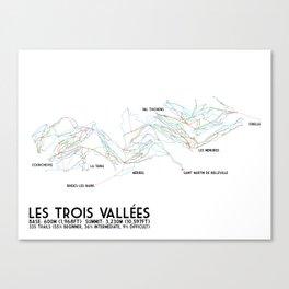Les Trois Vallees, Savoie, France - NA Edition (Labeled) - Minimalist Trail Art Canvas Print