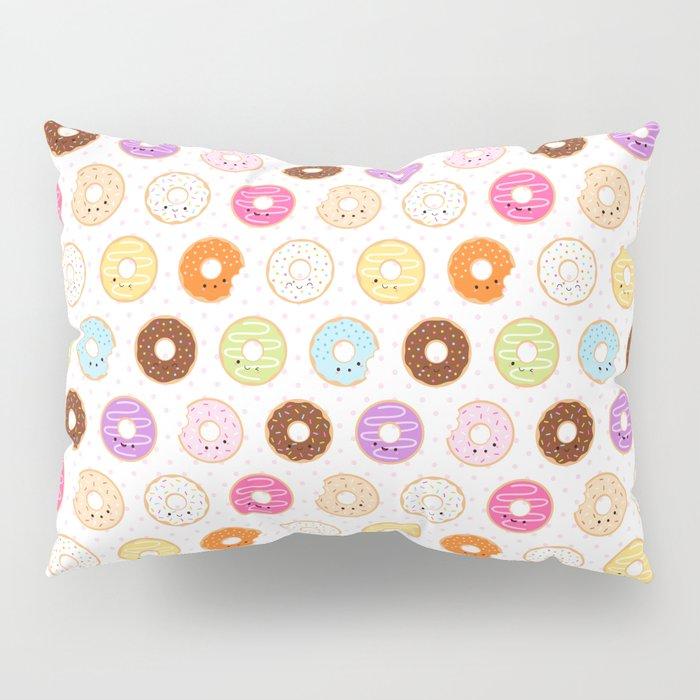 Happy Cute Donuts Pattern Pillow Sham
